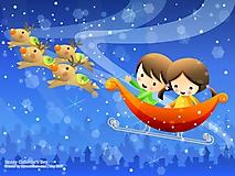 Дети летят в санях
