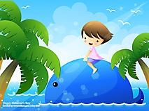 Девочка на ките