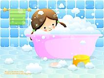 Девочка в ванной