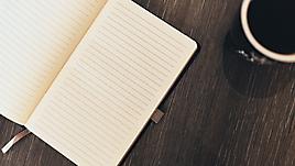 Пустая страница в тетради