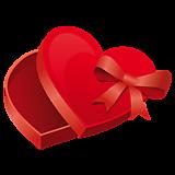 Коробка на виде сердца