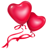 Два сердца с лентами