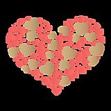 Сердце из маленьких сердечек