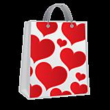 Пакет с сердцами
