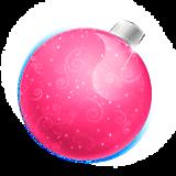 Елочный шар розовый