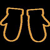 Варежки (контур)