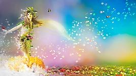 Девушка-весна на цветочном поле