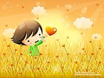 Девочка гуляет в поле