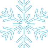 Снежинка (контур)