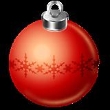 Елочный шар красный