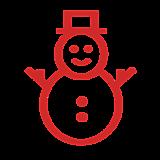 Снеговик (контур)